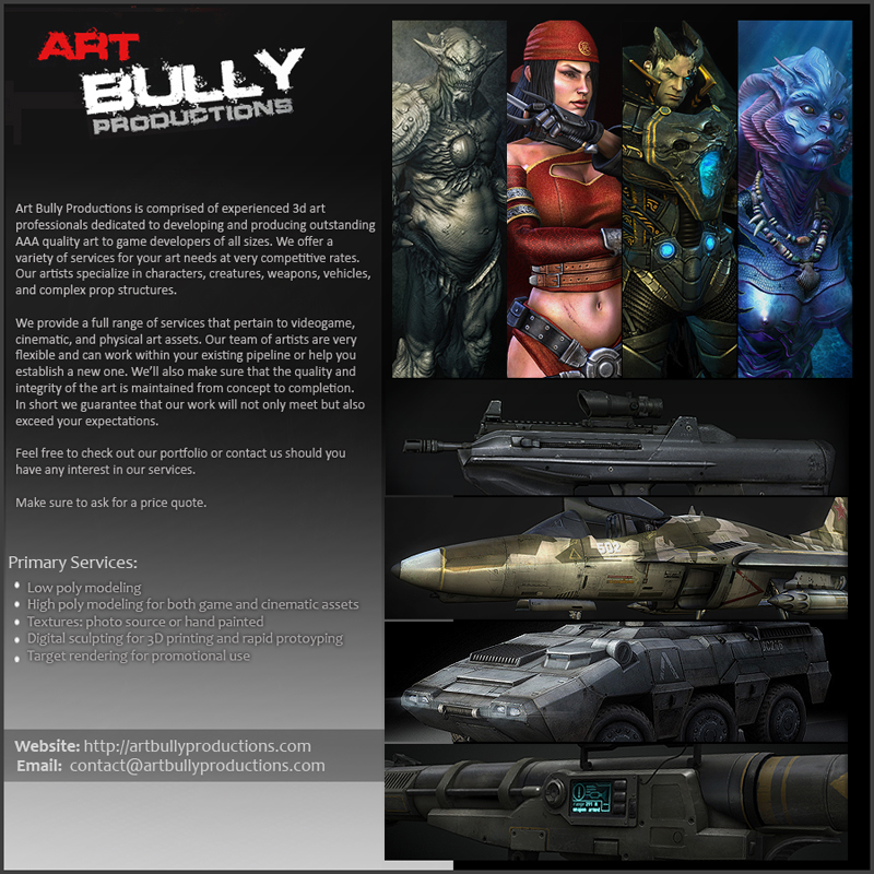 Art Bully Productions – Professional 3d Art Outsourcing Company ...